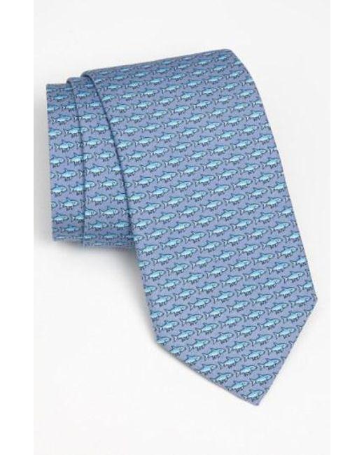 Vineyard Vines - Blue 'bonefish' Silk Tie for Men - Lyst