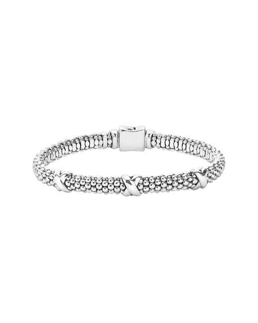 Lagos - Metallic 'signature Caviar' Mini Oval Rope Bracelet - Lyst