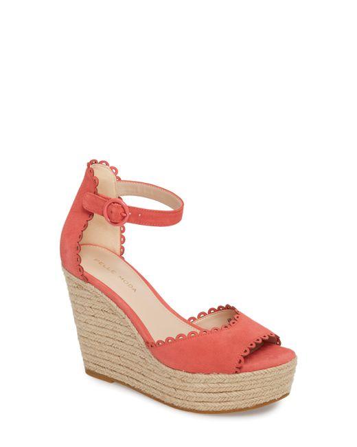 Pelle Moda - Pink Raine Platform Espadrille Sandal - Lyst