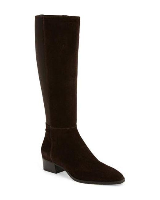 Aquatalia - Brown Finola Weatherproof Stretch Back Boot - Lyst