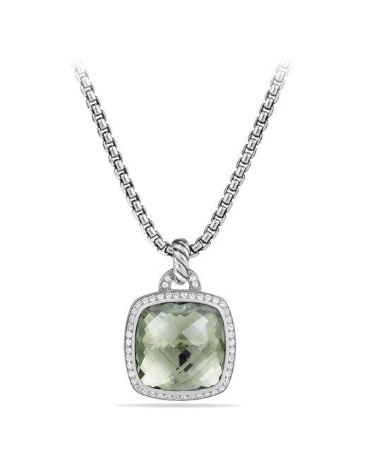 David Yurman - Metallic 'albion' Pendant With Diamonds - Lyst