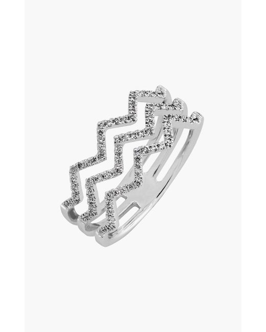 Bony Levy - Metallic 'prism' 3-row Diamond Ring (limited Edition) (nordstrom Exclusive) - Lyst