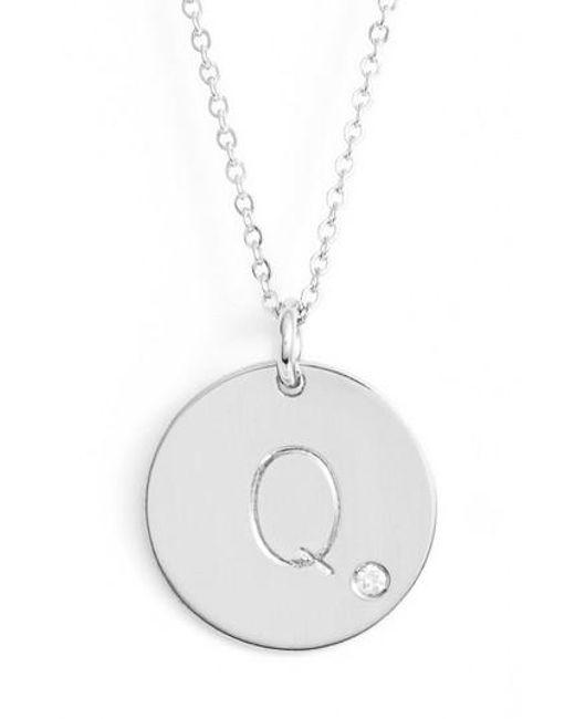 Nashelle | Metallic Diamond Intial Pendant | Lyst
