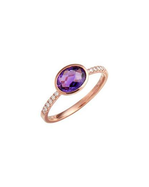 Bony Levy | Multicolor Iris Semiprecious Stone & Diamond Ring (nordstrom Exclusive) | Lyst