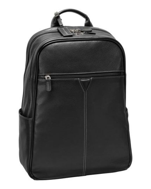 Johnston & Murphy | Black Leather Backpack | Lyst
