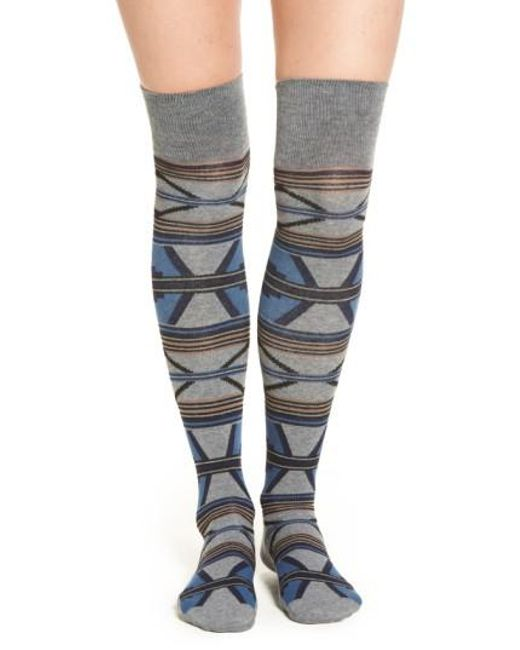 Pendleton | Blue 'rio Canyon' Over The Knee Socks | Lyst