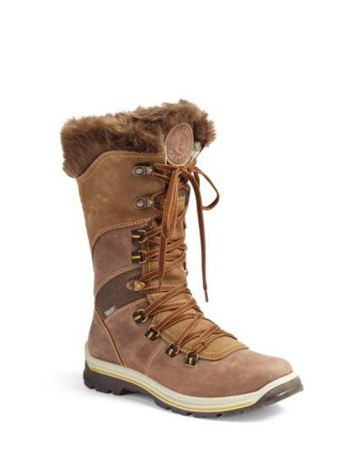 Santana Canada   Brown 'Morella' Water Resistant Faux-Fur Boot   Lyst