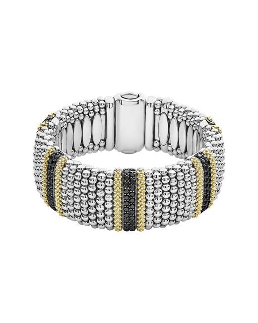 Lagos - Metallic Diamond Lux Black Diamond Wide Bracelet - Lyst