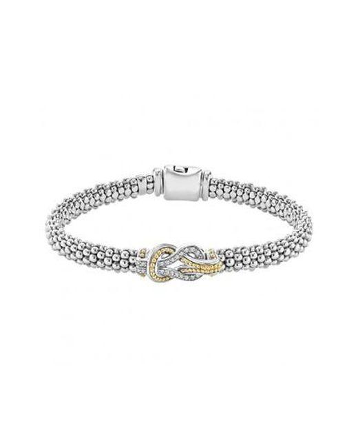 Lagos - Metallic 'newport' Diamond Knot Bracelet - Lyst