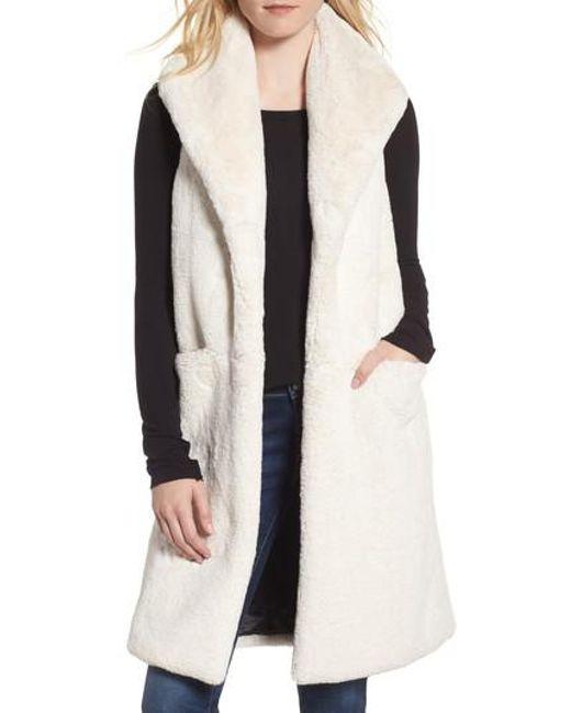 Heurueh - White Heather Faux Mink Fur Vest - Lyst