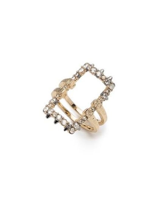 Alexis Bittar | Metallic Elements Crystal Encrusted Ring | Lyst