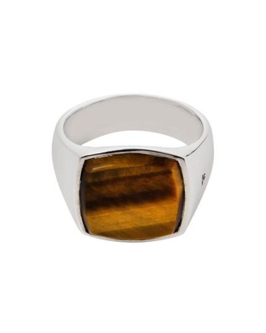 Tom Wood | Metallic Cushion Tiger's Eye Signet Ring | Lyst