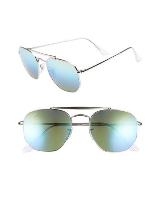 Ray-Ban - Green Marshal 54mm Aviator Sunglasses - Lyst