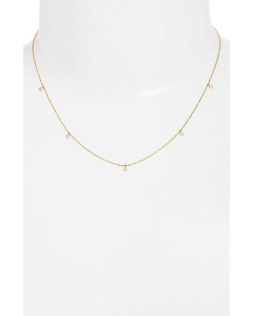 Zoe Chicco | Metallic Diamond Charm Necklace | Lyst
