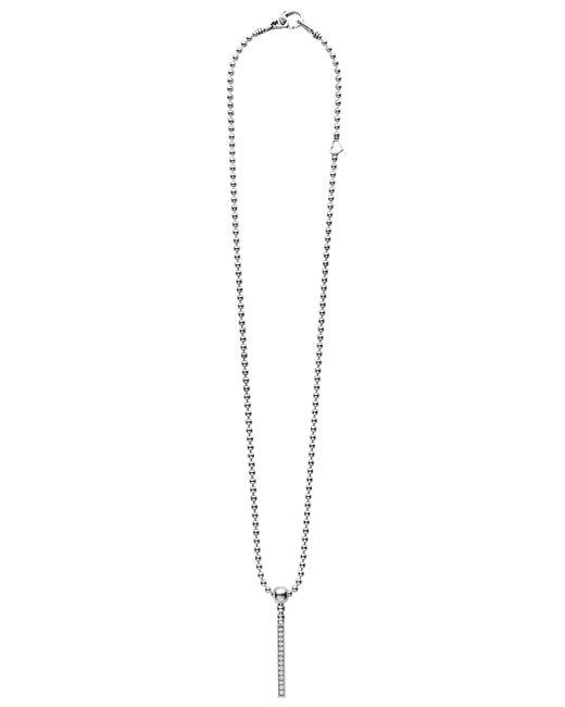 Lagos - Metallic Caviar Spark Diamond Bar Pendant Necklace - Lyst