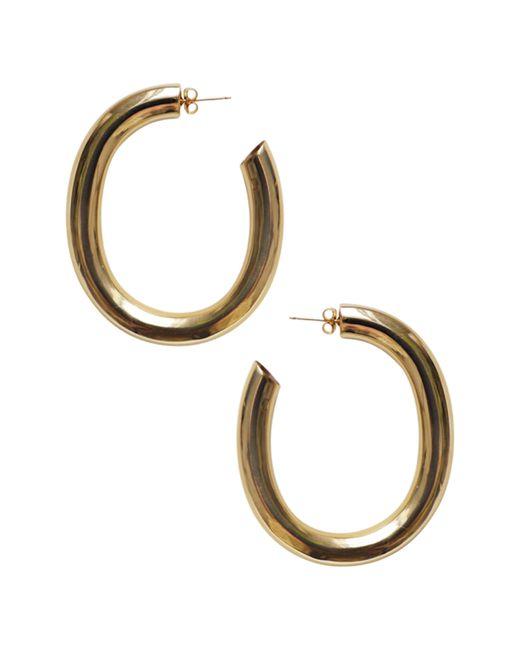 Laura Lombardi - Metallic Curve Hoop Earrings - Lyst