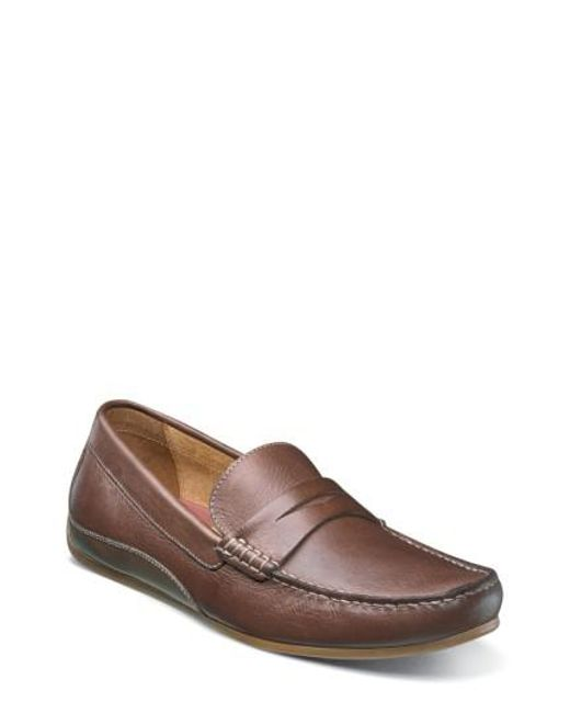 Florsheim | Brown Oval Driving Shoe for Men | Lyst