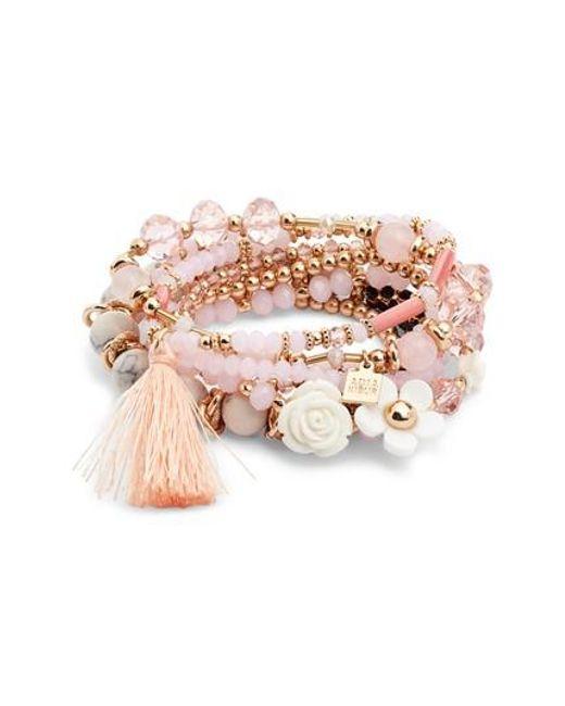 Adia Kibur - Pink Beaded Bracelet - Lyst