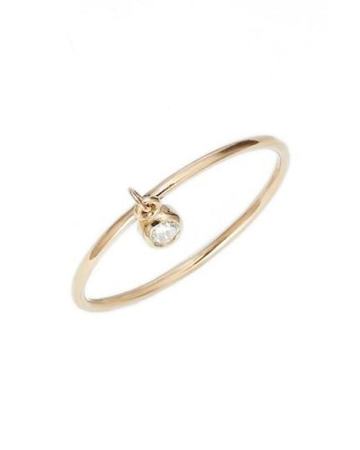 Zoe Chicco | Metallic Dangling Diamond Ring | Lyst