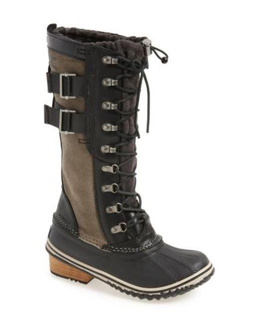 Sorel   Black 'conquest Carly Ii' Waterproof Mid Calf Boot   Lyst