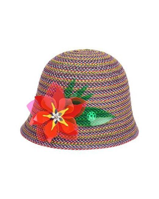 Floral Print Hat - Multicolour Maison Michel ekb7fuH5g