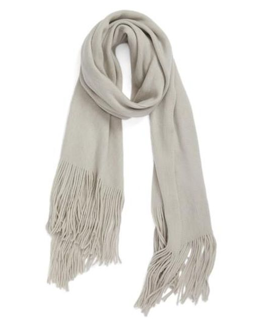 Free People | Gray Kolby Brushed Scarf | Lyst