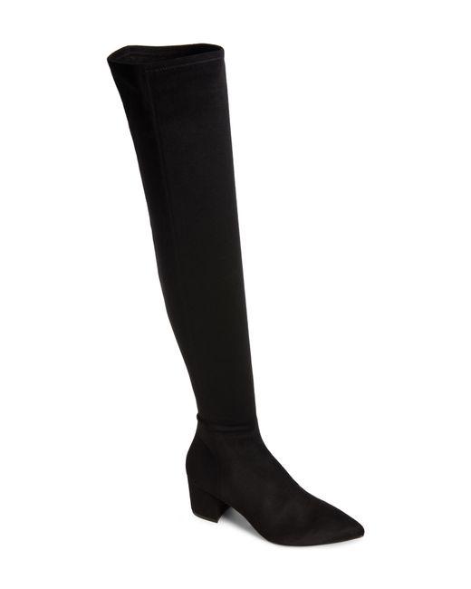 Steve Madden - Black Brinkley Over The Knee Stretch Boot - Lyst
