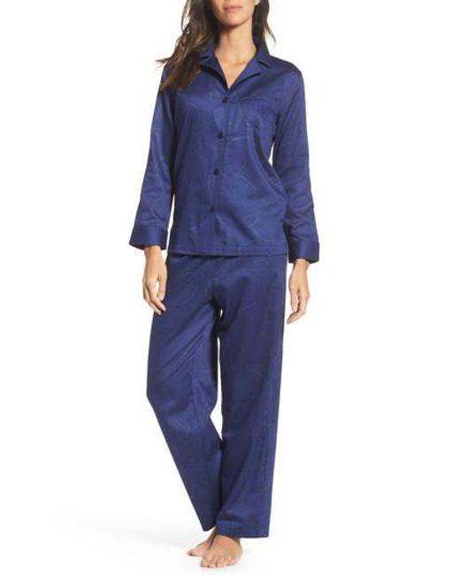 Lauren by Ralph Lauren | Blue Cotton Pajamas | Lyst