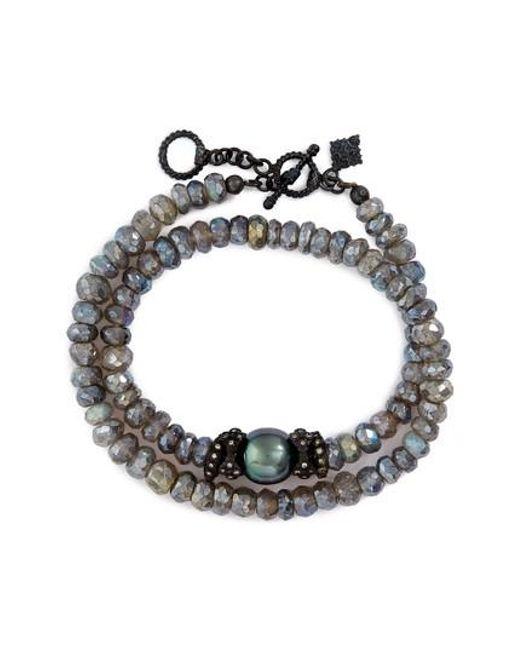 Armenta | Black Old World Mystic Double Wrap Bracelet | Lyst