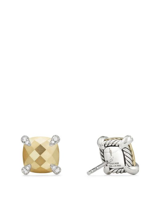 David Yurman - Black Chatelaine Earrings With Diamonds - Lyst