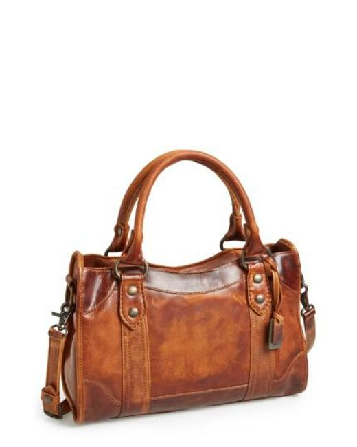 Frye   Brown 'melissa' Washed Leather Satchel   Lyst