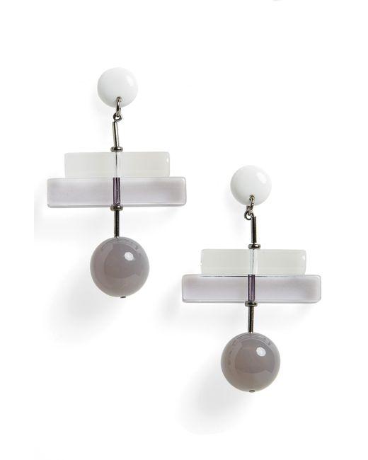 Rachel Comey - Gray Orb Drop Earrings - Lyst