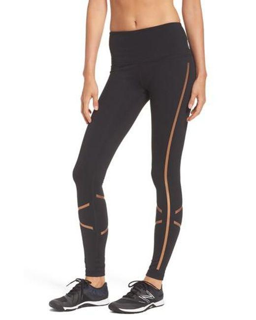 Zella | Black Shine Bright High Waist Leggings | Lyst