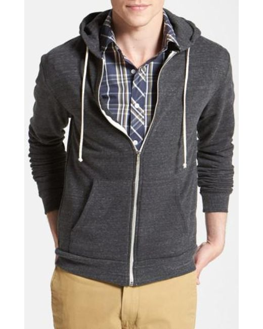 Threads For Thought - Gray Trim Fit Heathered Hoodie for Men - Lyst