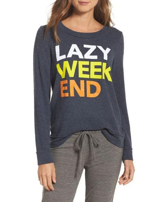 Chaser | Multicolor Lazy Weekend Love Knit Sweatshirt | Lyst