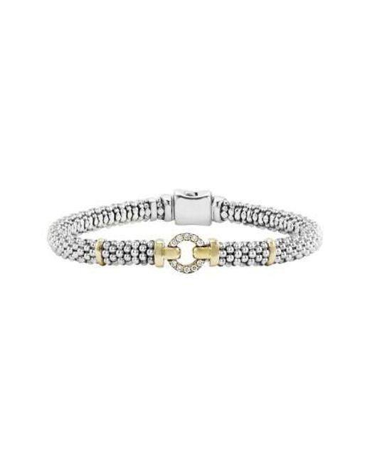 Lagos - Metallic Enso Diamond Bracelet - Lyst