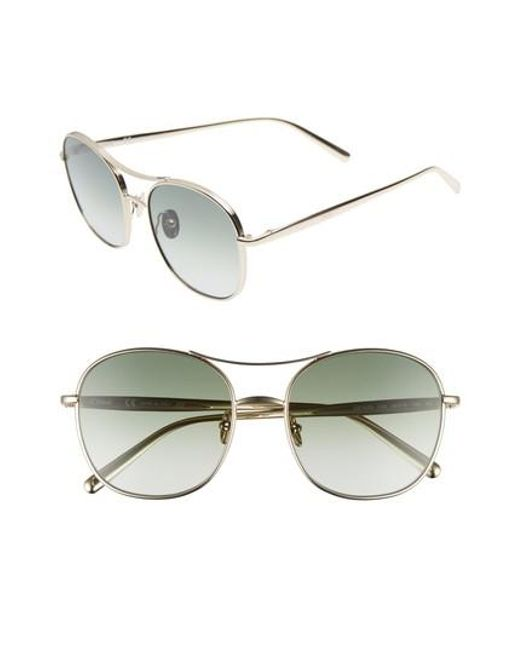 052f5a2fe55f Lyst - Chloé 54mm Aviator Sunglasses in Metallic