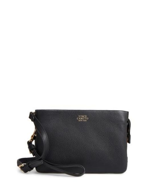 Vince Camuto | Black 'cami' Leather Crossbody Bag | Lyst