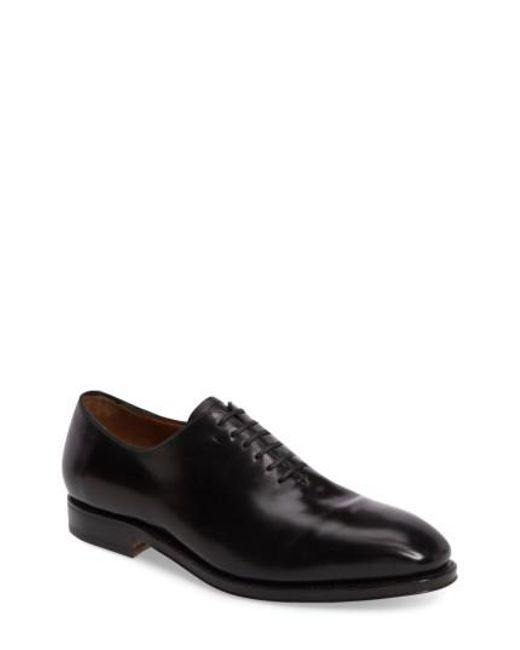 Ferragamo | Black 'carmelo' Plain Toe Oxford for Men | Lyst