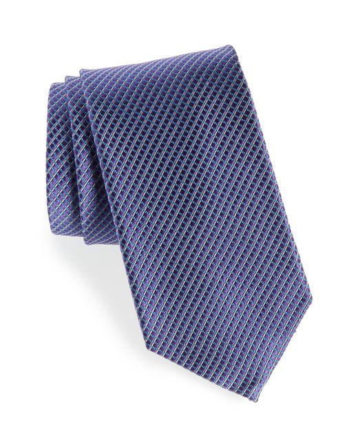 Nordstrom - Purple Bucaro Micro Pattern Silk Tie for Men - Lyst