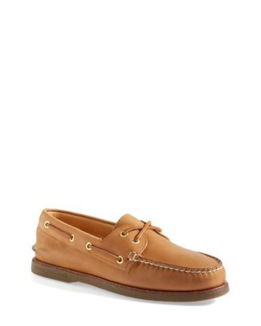 Sperry Top-Sider - Brown 'gold Cup - Authentic Original' Boat Shoe for Men - Lyst