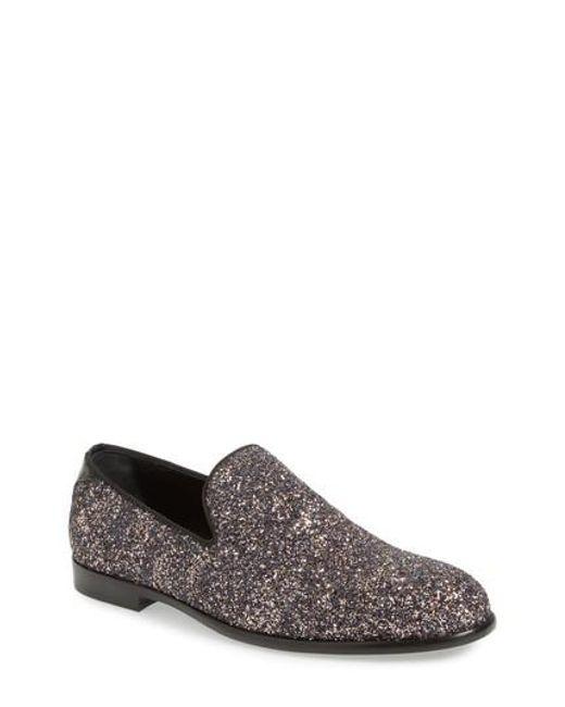 Jimmy chooMen's Marlo Glitter Venetian Loafer JcaWF
