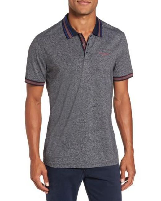 Ted Baker | Gray Fore Mouline Golf Polo for Men | Lyst