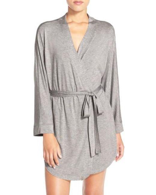 Honeydew Intimates - Gray Jersey Robe - Lyst