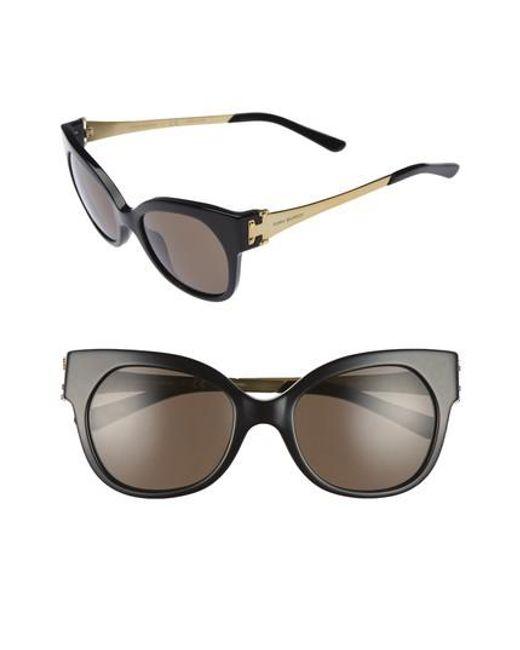Tory Burch | Black 52mm Cat Eye Sunglasses | Lyst