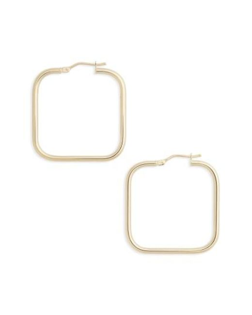 Bony Levy | Metallic Square Hoop Earrings | Lyst