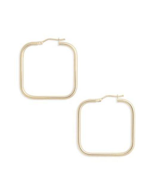 Bony Levy   Metallic Square Hoop Earrings   Lyst