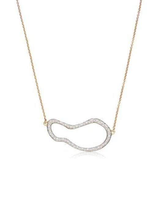 Monica Vinader | Metallic Riva Pod Diamond Pendant Necklace | Lyst