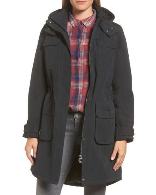 Barbour | Black Velum Hooded Waterproof Jacket | Lyst