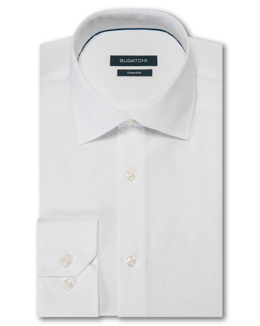 Bugatchi - White Trim Fit Solid Dress Shirt for Men - Lyst